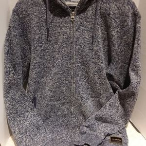 Quiksilver thick heathered knit hoodie